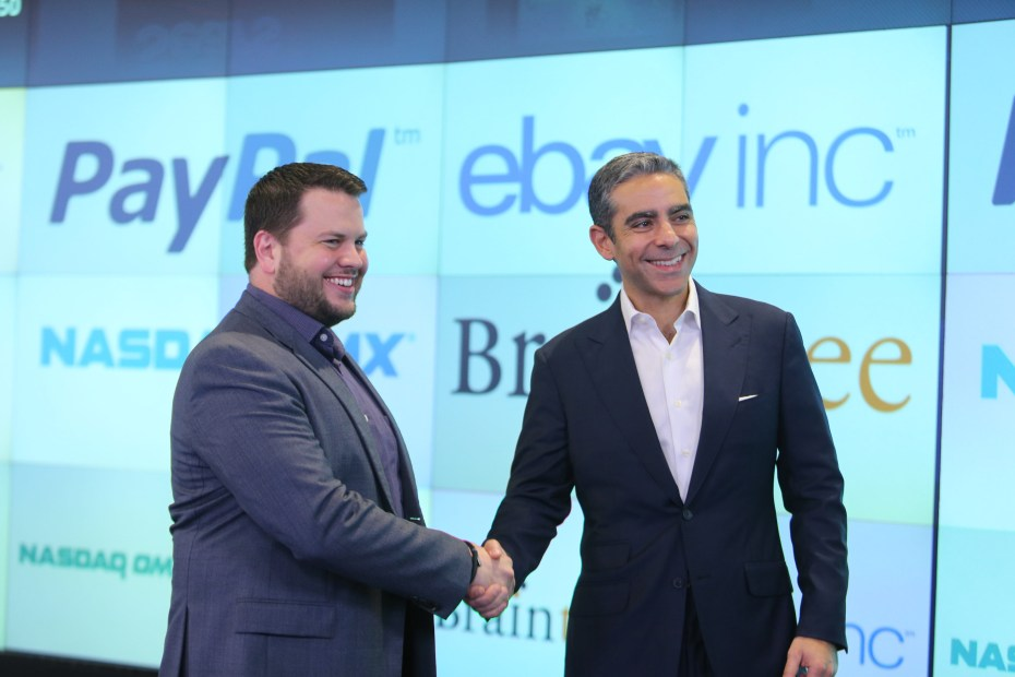 Bill Ready, CEO of Braintree, and David Marcus, President of PayPal.