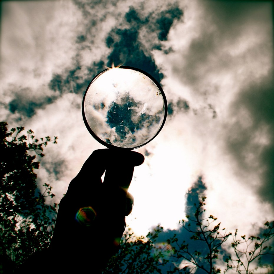 clouds magnifying glass Kara Harms Flickr