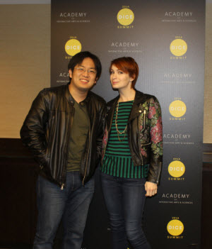 Felicia Day and Freddie Wong in Vegas at Dice