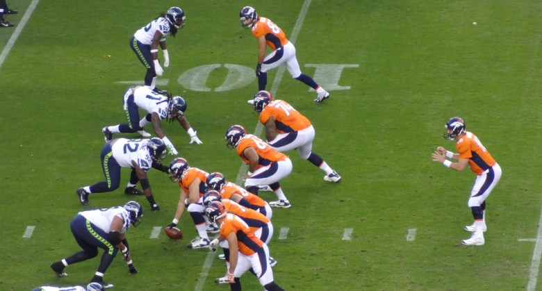 Deege photos Seahawks Broncos football