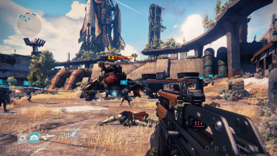 Bungie's collaborative shooter Destiny in action.