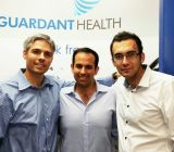 Guardant cofounders Michael Wiley, Helmy Eltoukhy and AmirAli Talasaz (L-R)