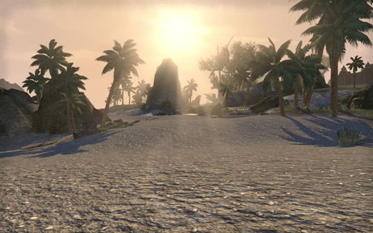 A desert island zone from The Elder Scrolls Online.