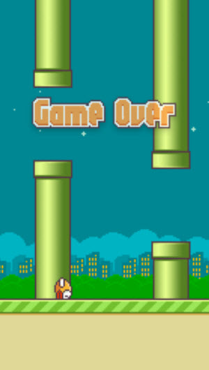 Updated Flappy Bird screen