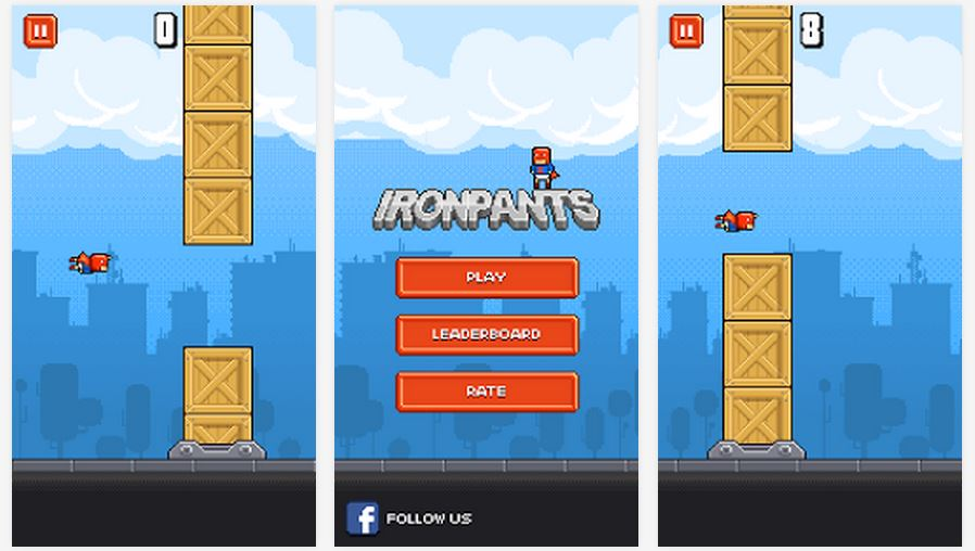 Ironpants is one of the most popular Flappy Bird clones