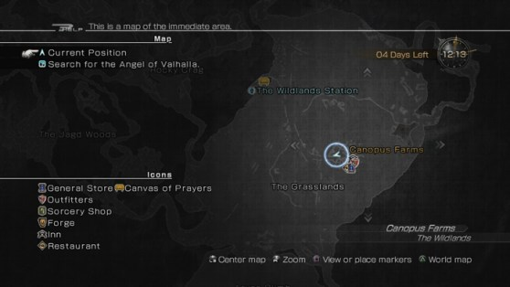 Lightning Returns - Wildlands Map