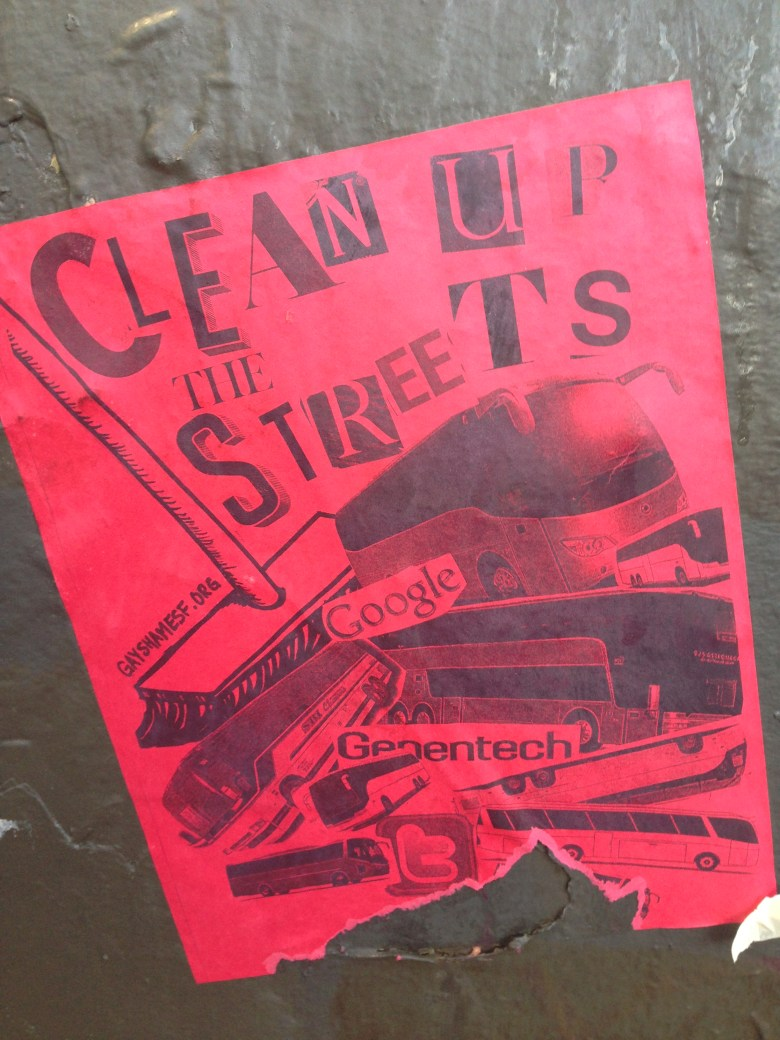 An anti-tech poster in San Francisco's mission district