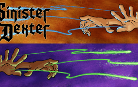 Wizards casting spells in Sinister Dexter.