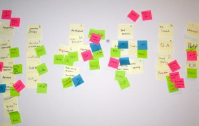 Agile development requires lots of flexibility -- and Post-It Notes.