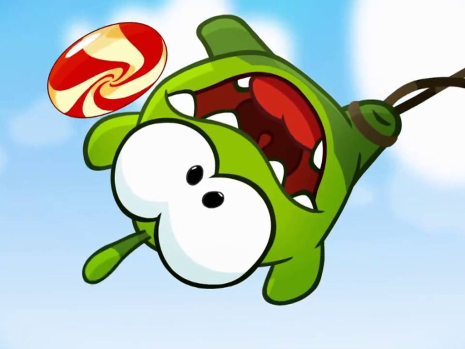 The Omnom character from Cut the Rope and Cut the Rope 2.