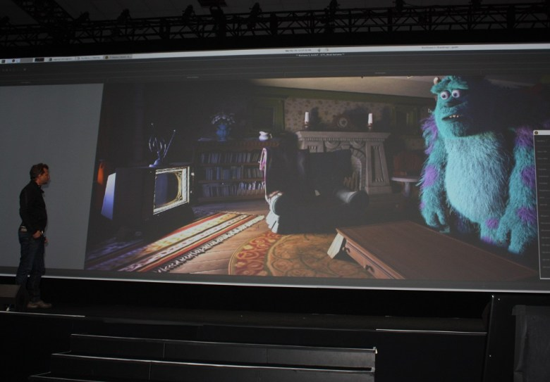 Danny Nahmiasa of Pixar shows off Sully.