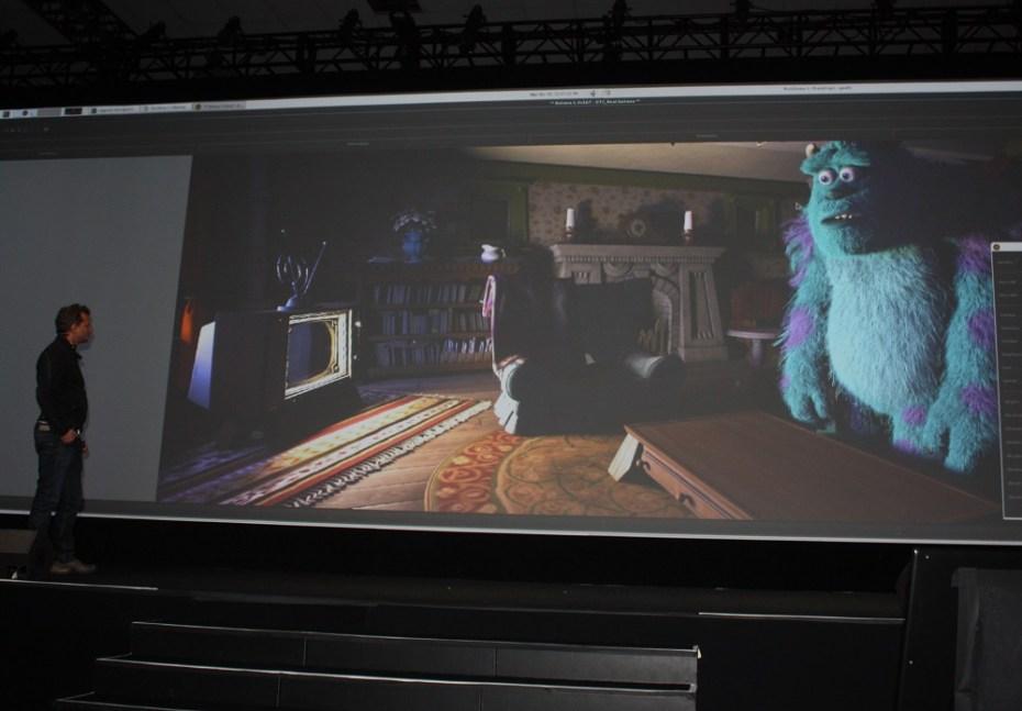 Danny Nahmiasa of Pixar shows off Sully.