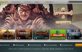 GOG's storefront for PC games.
