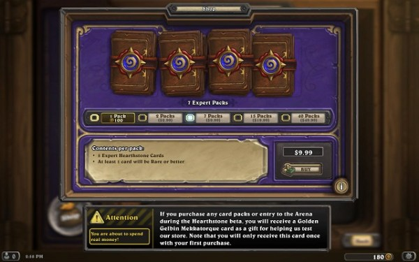 Hearthstone Buying Cards