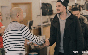 Skillshare teacher Jeff Staple and student Mathew Kieser
