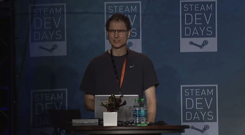 Oculus developer Michael Abrash addresses developers during his time working with Valve.