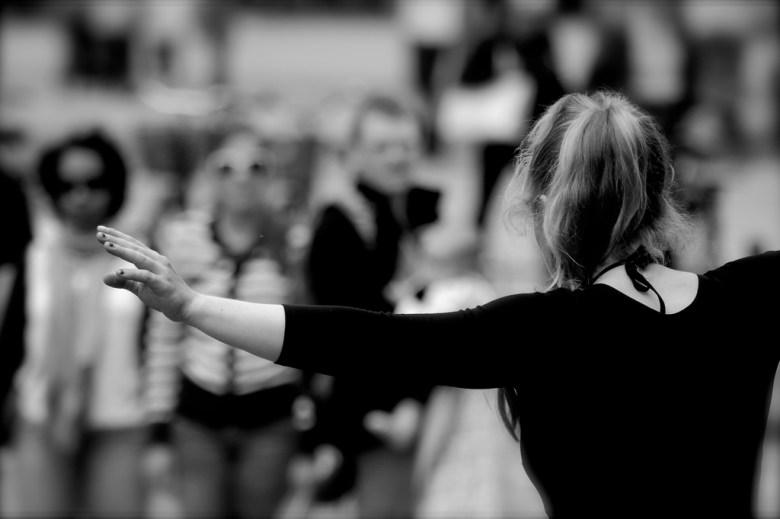 tightrope walker Katheirne Hitt Flickr