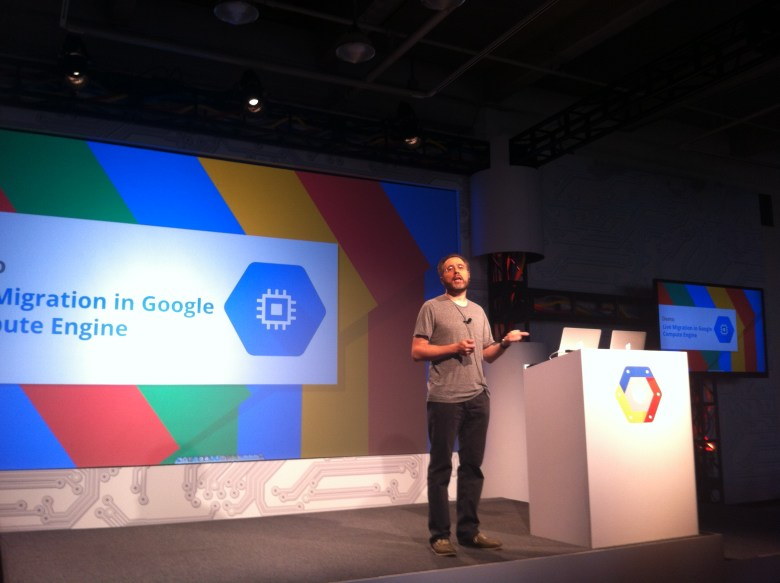 Google's Urs Hölzle at the Google Cloud Platform event in San Francisco today.