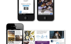American Express created a mobile ad that allows user-personalization with name, hometown, and camera pics.