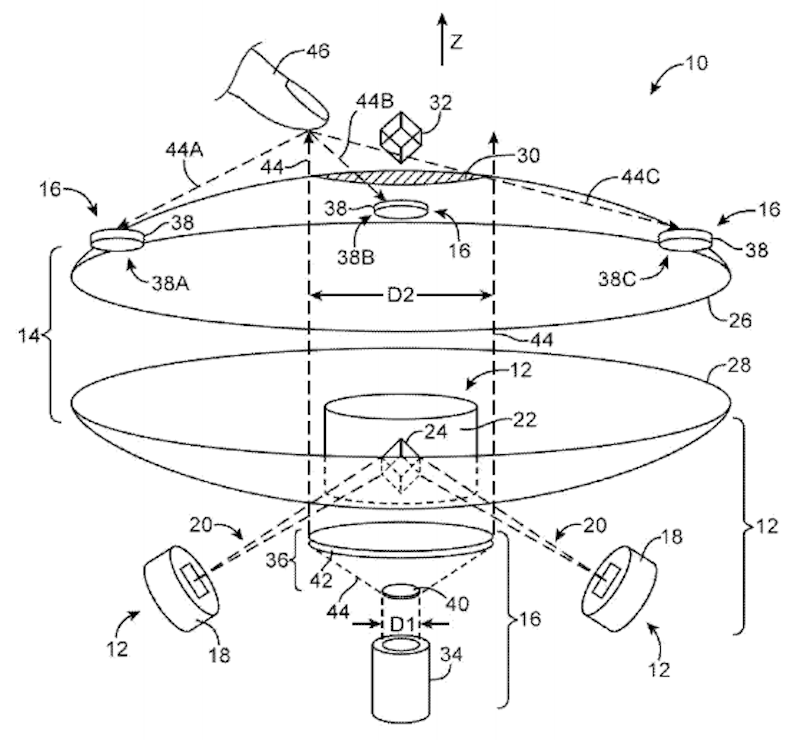 Apple's patent application for interacting with a mid-air image