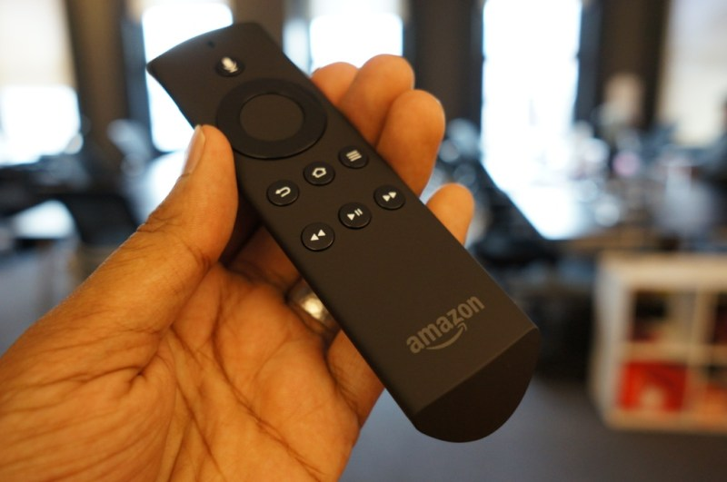 The Fire TV's remote control