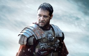 "Russell Crowe in Ridley Scott's ""Gladiator."""