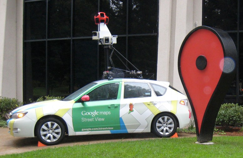 A Google Street View car (Subaru Impreza) at Google campus.