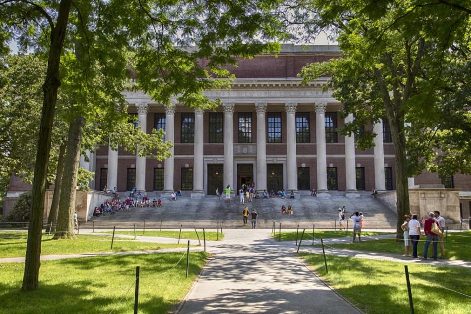 Harvard University campus in Cambridge, Mass.