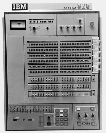 The operator's console on the IBM's System/360 Model 65.