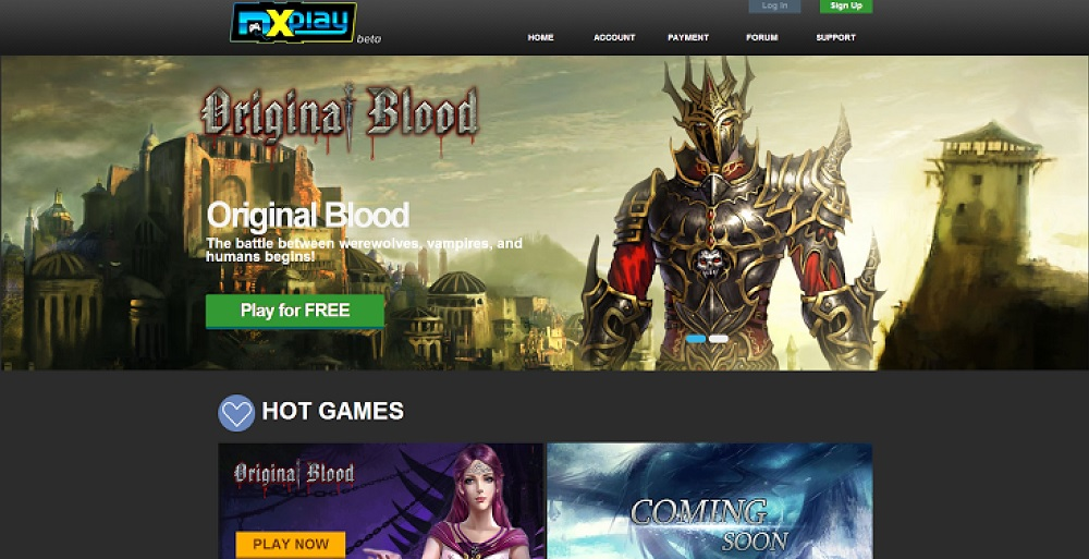 Original Blood on the Maxthon browser.