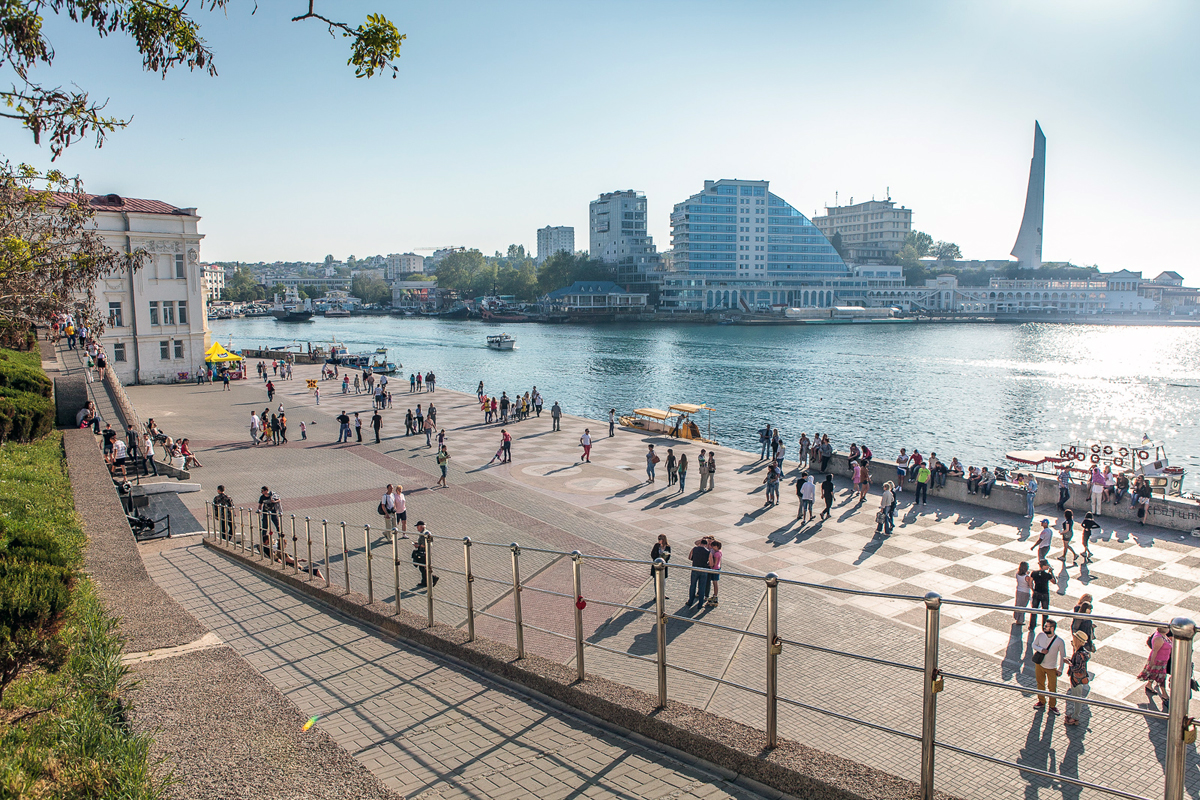 A view of Artillery Bay in Sevastopol, Crimea, dated May 5, 2013.