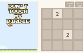 Flappy Bird 2048: Side by Side in action on the web.