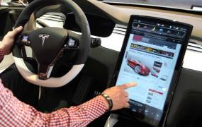 tesla screen