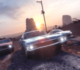 A pack of muscle cars has caught your party by surprise! Flee or Fight?