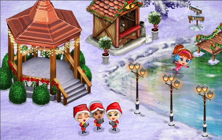 Christmastime in YoVille, which is now YoWorld.