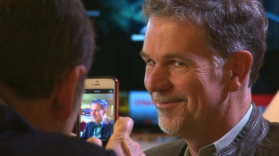 Netflix founder Reed Hastings - snapped in his suite at the Wynn in Las Vegas""