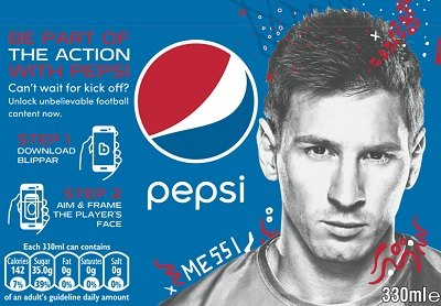Pepsi links its cans to the Blippar smartphone app