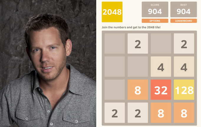 Cliff Bleszinski can't get enough of smashing those 2048 tiles together. Possibly in the pool.