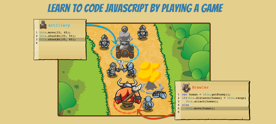 Code Combat fuses wizards, ogres, and coding in a fun way.