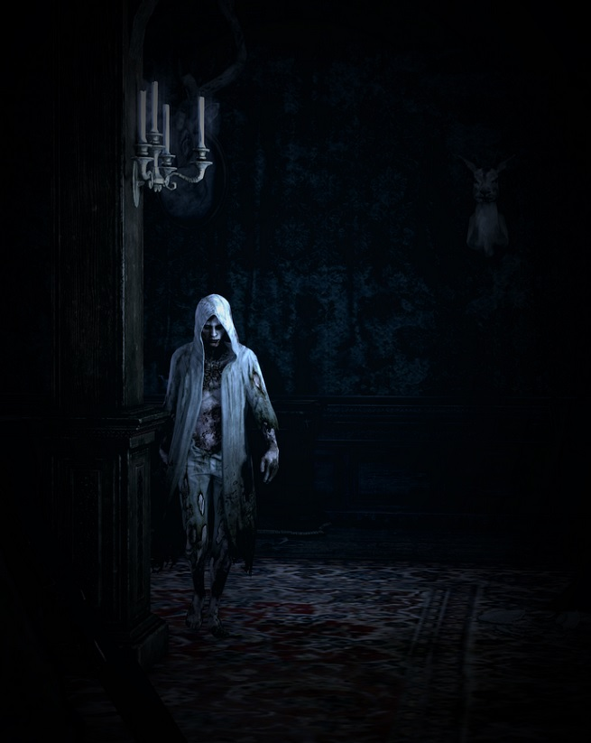 The hooded boss bad guy in The Evil Within.