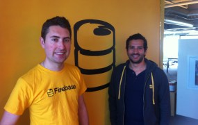 James Tamplin, left, co-founder and chief executive of Firebase, and Ossama Alami, vice president of developer happiness, at the startup's office in San Francisco.