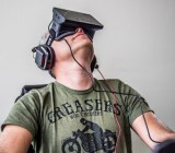The Oculus Rift headset.