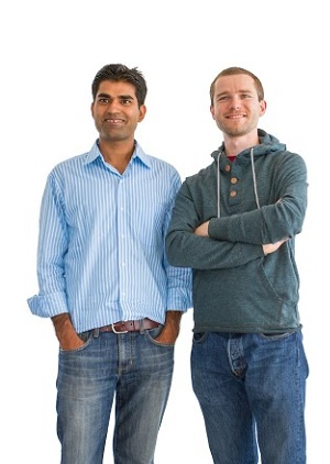 Osmo creators Pramod Sharma and Jerome Scholler.