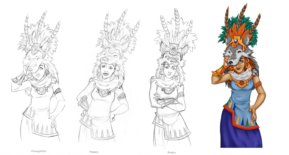 Concept art for Kansah.