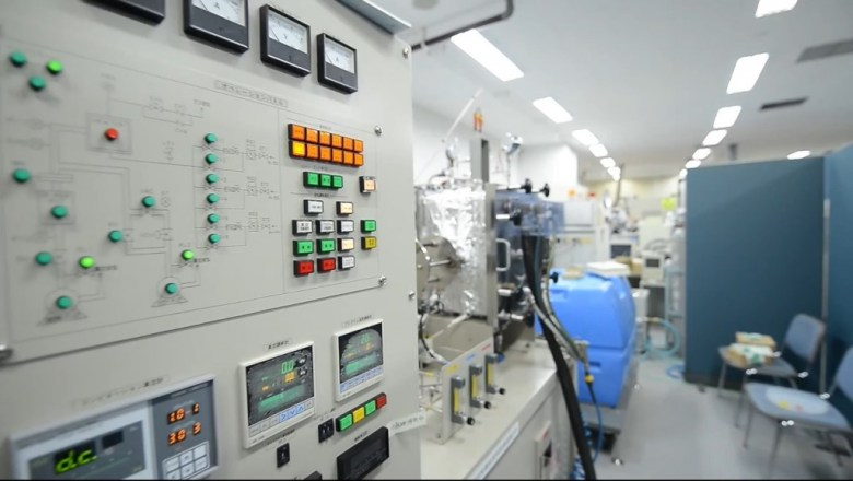 Power Japan Plus's battery laboratory.