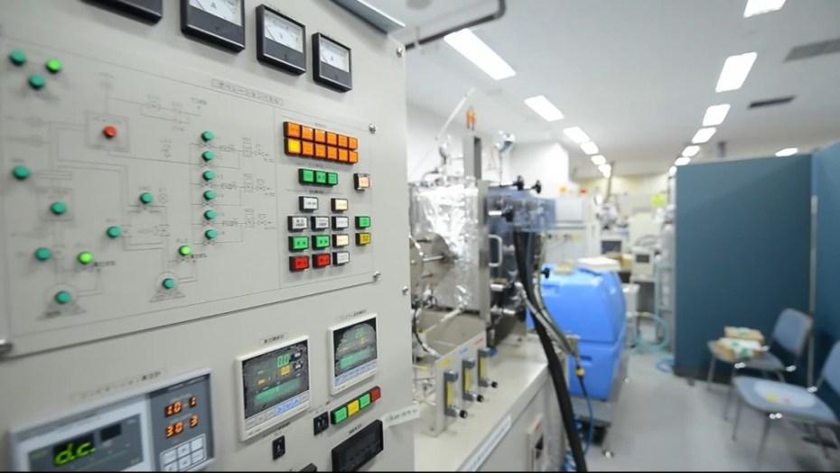 Power Japan Plus's battery laboratory.