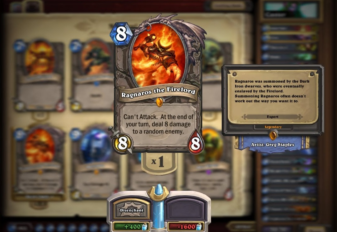 Ragnaros has a reputation as one of Hearthstone's most powerful cards.