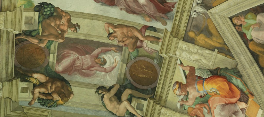 Zooming in gives you a closer view of the wondrous Sistine Chapel ceiling.