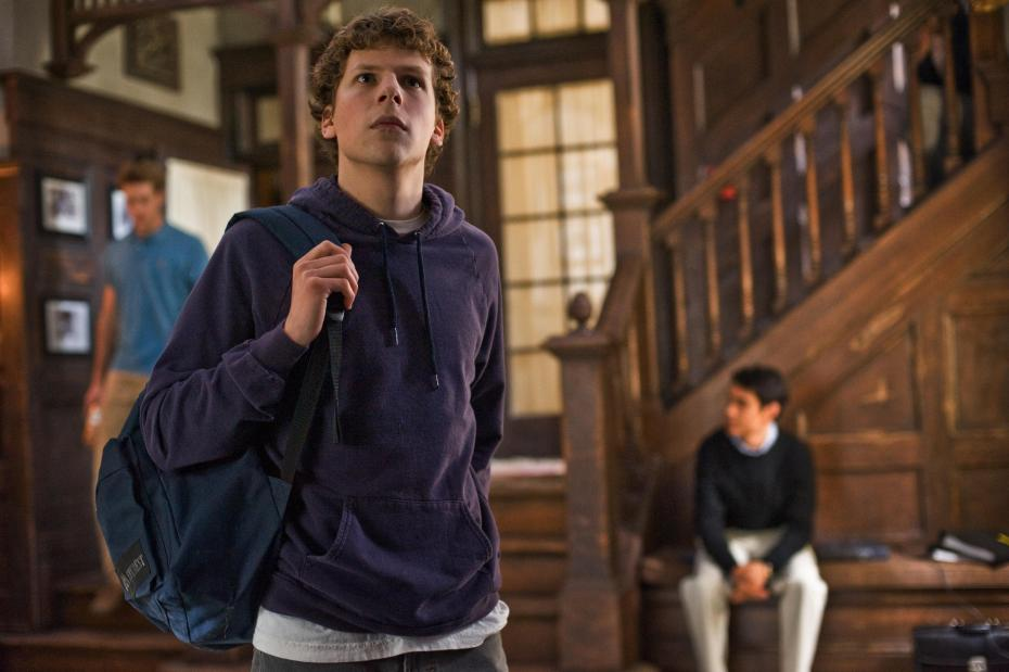 "Actor Jesse Adam Eisenberg plays a young Mark Zuckerberg in ""The Social Network"""
