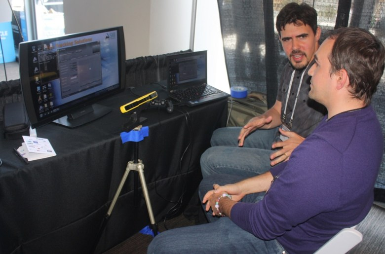 Eric Larsen of Sony shows off eye-tracking for Infamous: Second Son.